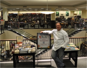 Author Chef Michael Bennett at Barnes and Nobles