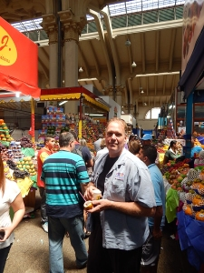 Chef Michael shopping in #saoPaulo