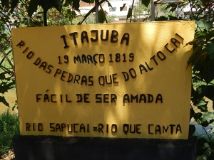 City marker for Itajuba
