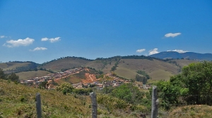 Small villages spread across Brazilian countryside